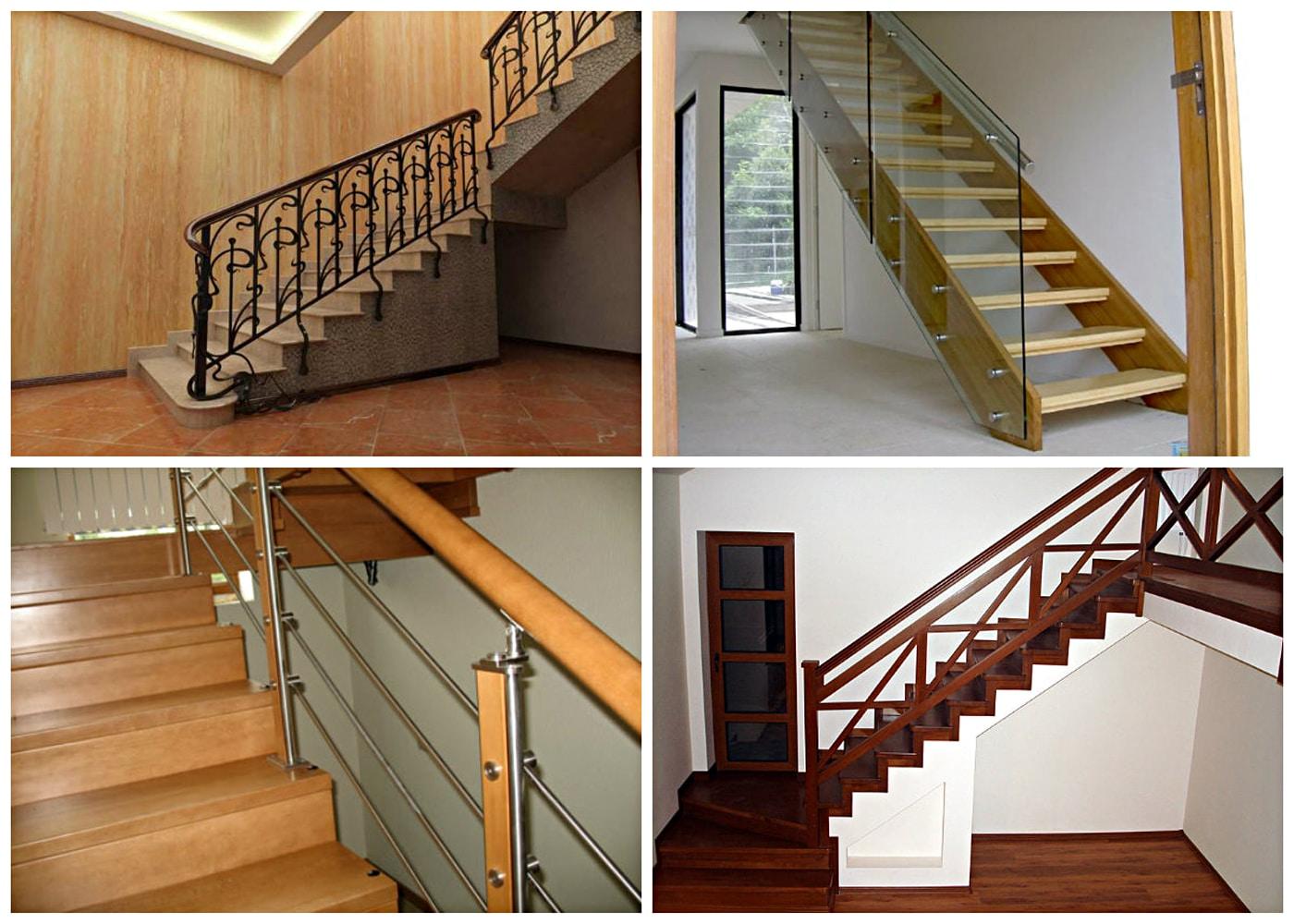 Выбор ограждения для лестницы в частный дом фото