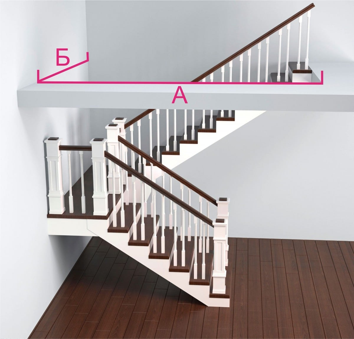 Каким должен быть проем для лестницы фото